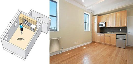 Living In 250 Square Feet Could You Do It 175 Sq Ft Apartment For Nyc New York