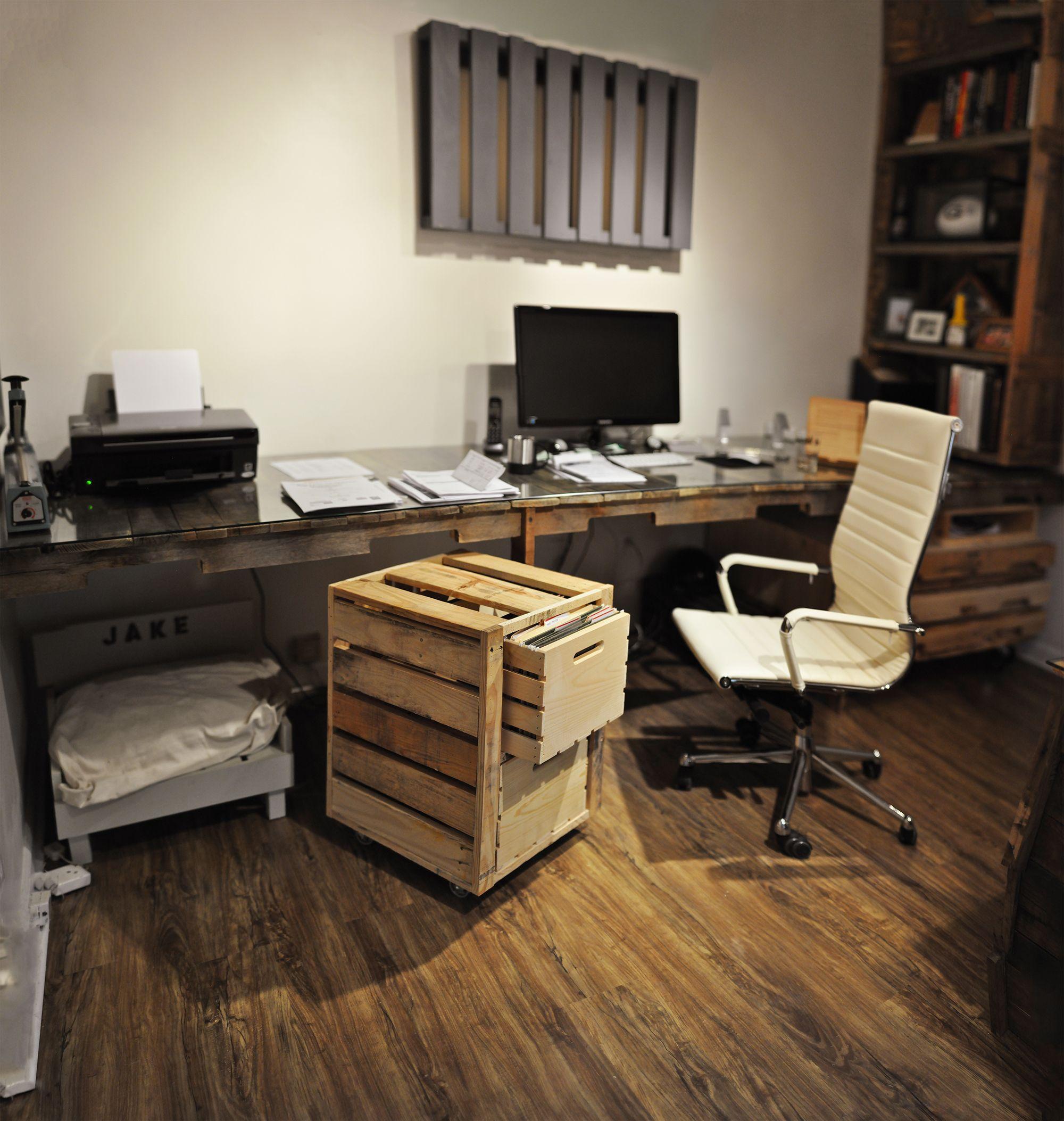 office desk europalets endsdiy. Pallet Crates Office Desk Europalets Endsdiy