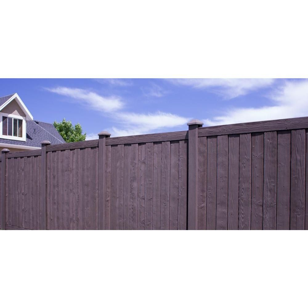 w walnut brown composite fence panel