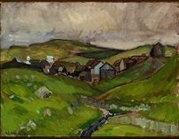 Village the Faroe Islands by Samuel Joensen Mikines