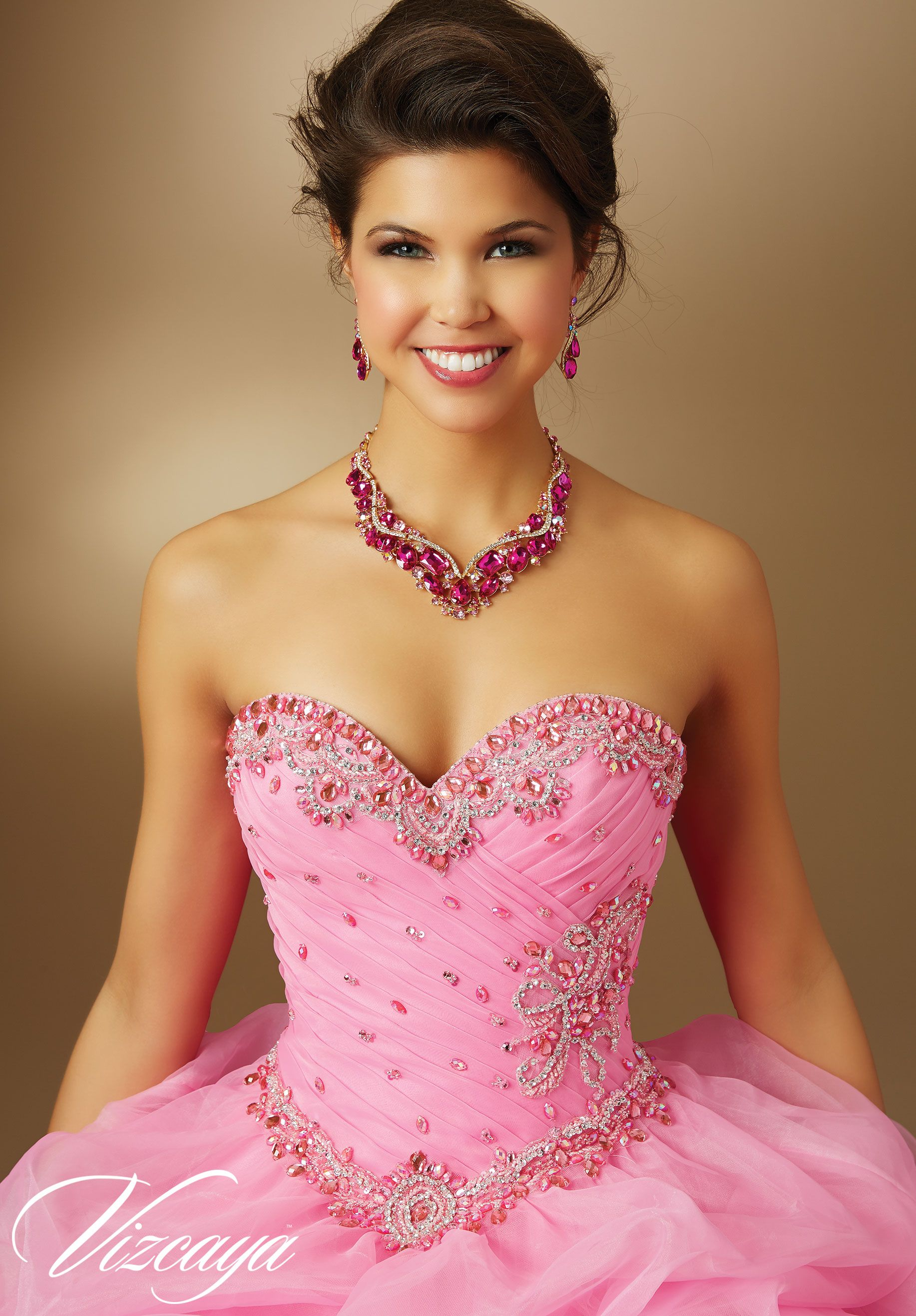 Quinceanera Dress 89048 Jeweled Beading on Organza | Quince ...