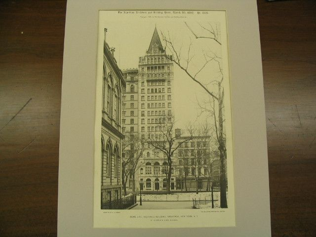 Home Life Insurance Building on Broadway, New York, NY ...