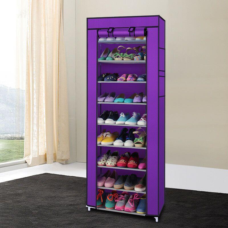 10 Tier Portable Single Shoe Boot Closet Rack Shelf Storage Organizer Cabinet Closet Organ Shoe Rack Closet Storage Closet Organization Shoe Storage Cabinet