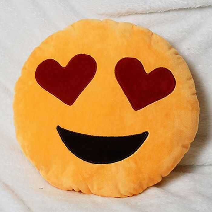 A Super Cute Pillow That S Comfy And Decorative Measures About 14 Inches X 14 Inches Made With Super Soft Plush Fi Emoji Pillows Plush Pillows Cute Pillows