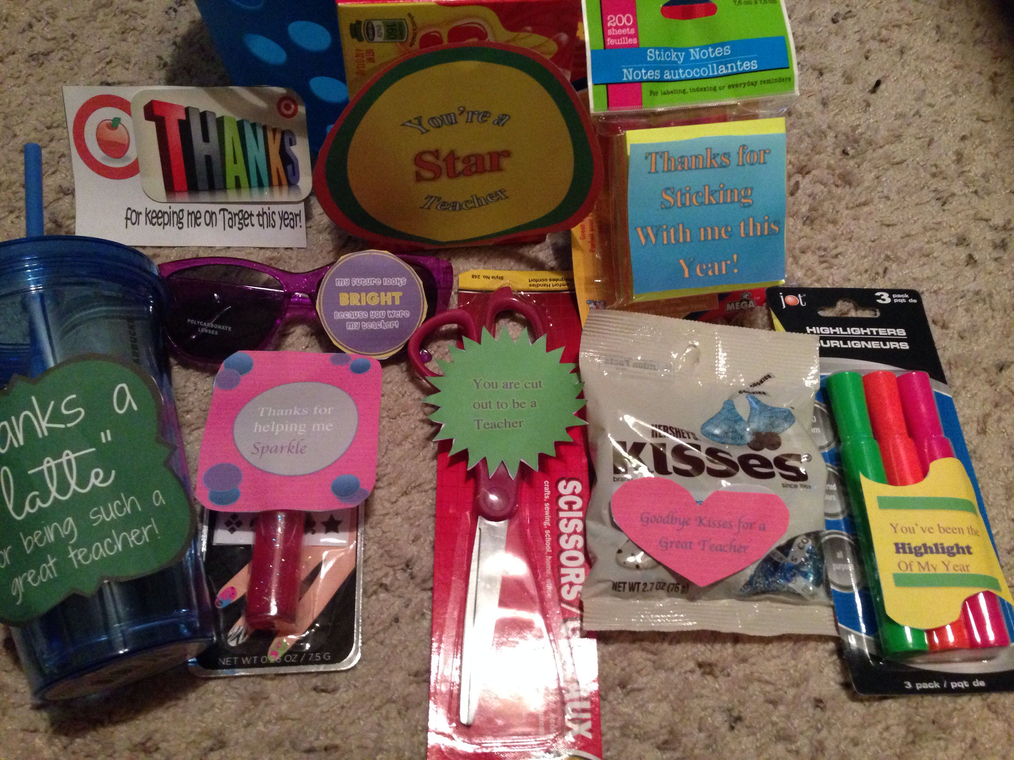 End of the year gift basket target and starbucks gift