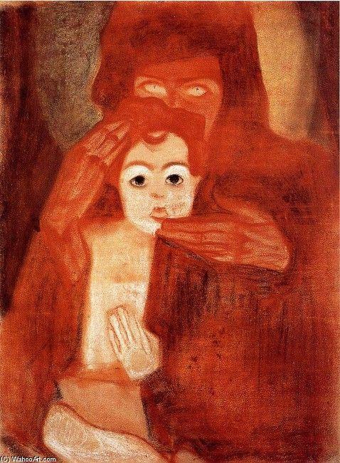 Egon Schiele >> Mother and Child (aka Madonna)