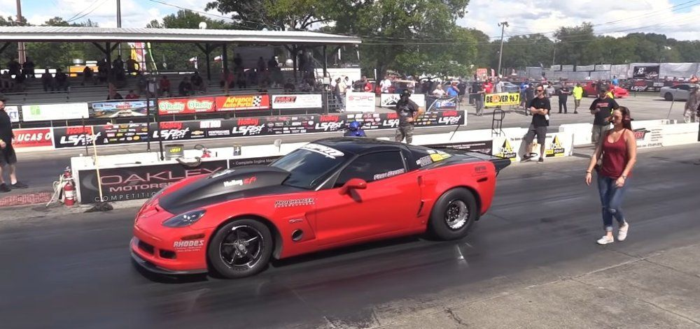Monstrous Corvette Z06 Runs Low 8s On The Brakes Showing That A 7