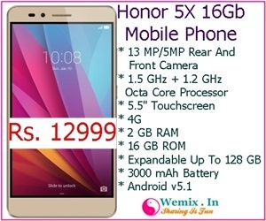 Honor 5X 16Gb Mobile Phone Rs 12999 | Mobile & Accessories