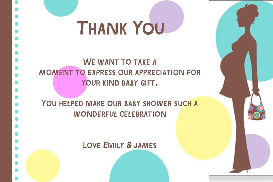 Tips Baby Shower Thank You Note Writing Thank You Cards - Card template free: birth announcement thank you cards