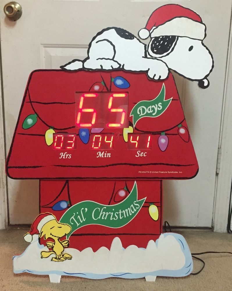 Peanuts Snoopy Woodstock Doghouse Countdown To Christmas Digital 36 Inch Display Timer Indoor Outdoor