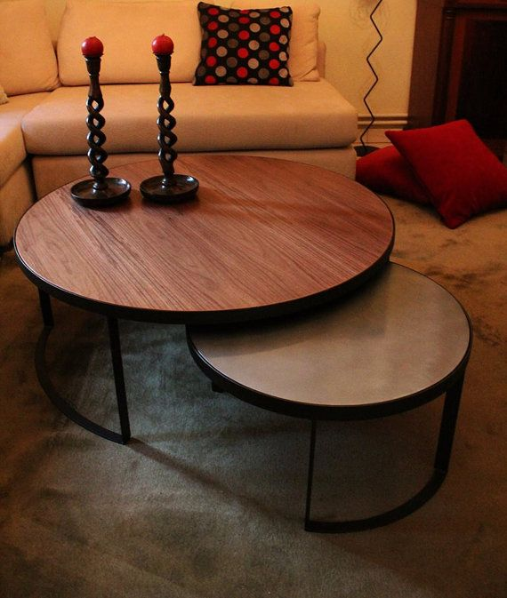 walnut-perle contemporary handmade coffee table side table in all dimensions and colour