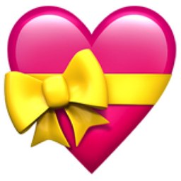 Pink Candy Box In The Shape Of A Heart With A Yellow Ribbon Tied In A Bow Around It Balloons And Candy Are Always A Emoji Art Emoji Backgrounds Emoji Pictures