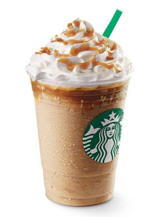 We Re Totally Getting The Caramel Ribbon Crunch Frappuccino At Frappy Hour Today Starbucks Drinks Recipes Starbucks Recipes Starbucks Caramel Frappuccino