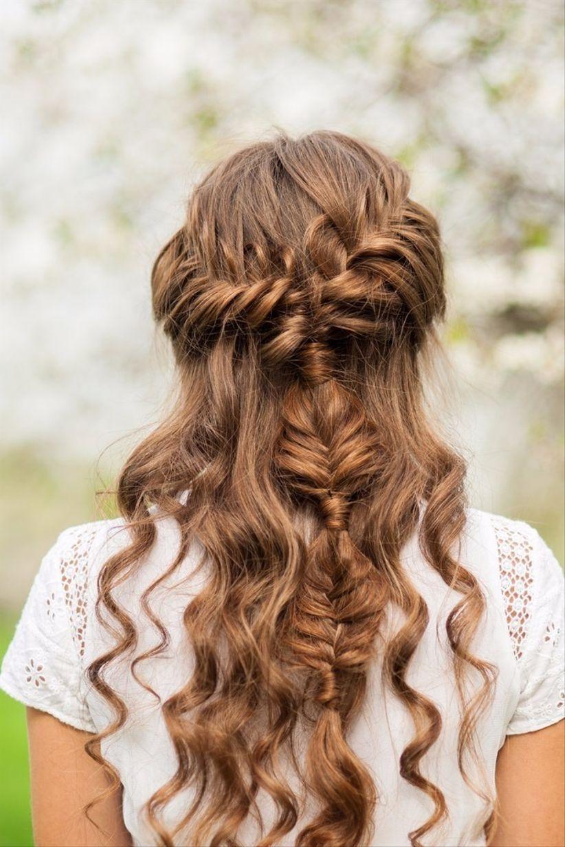 Peinados semirrecogidos para novia: 35 opciones para la boda