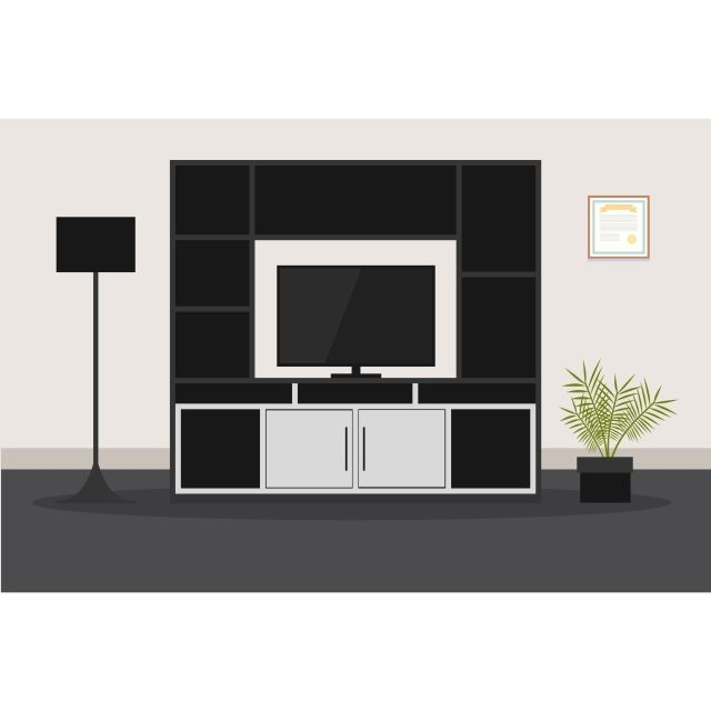 Design Of Modern Furniture For Living Room Tv Apartment Office Living Png And Vector With Transparent Background For Free Download Living Room Tv House Illustration House Decoration Kitchen