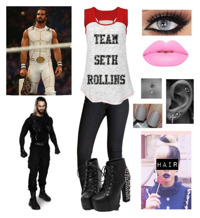 """""""Team Seth Rollins~Seth Rollins Gender Bend 2"""" by mrsromanreigns916 ❤ liked on Polyvore featuring J Brand, Lime Crime and Nails Inc."""