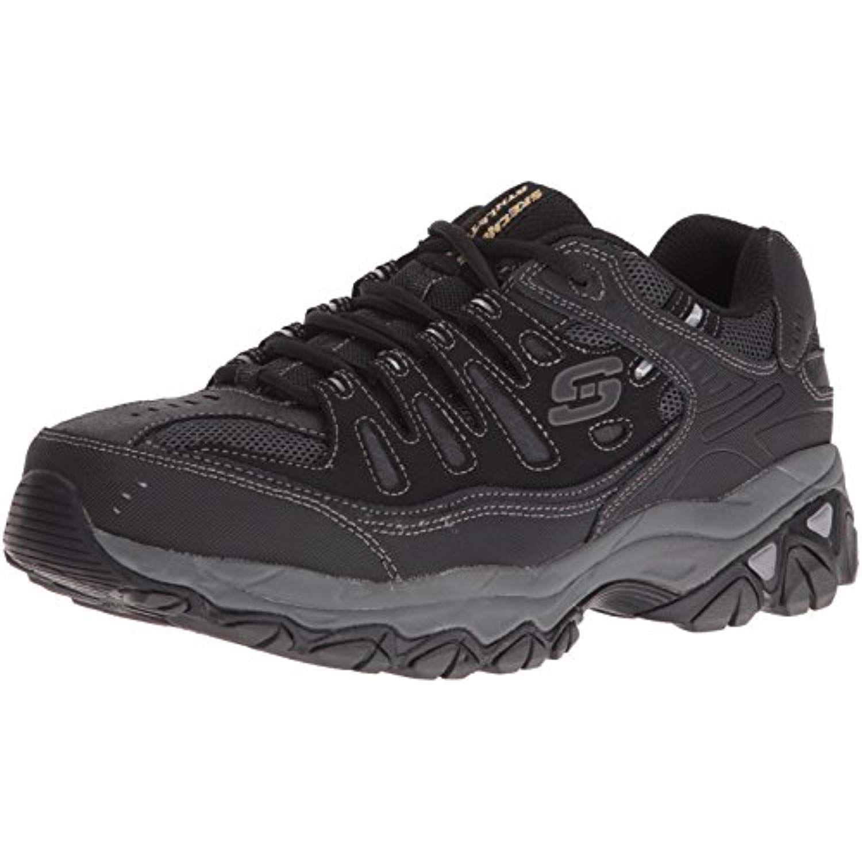 Skechers Men's Afterburn MemoryFoam Laceup Sneaker