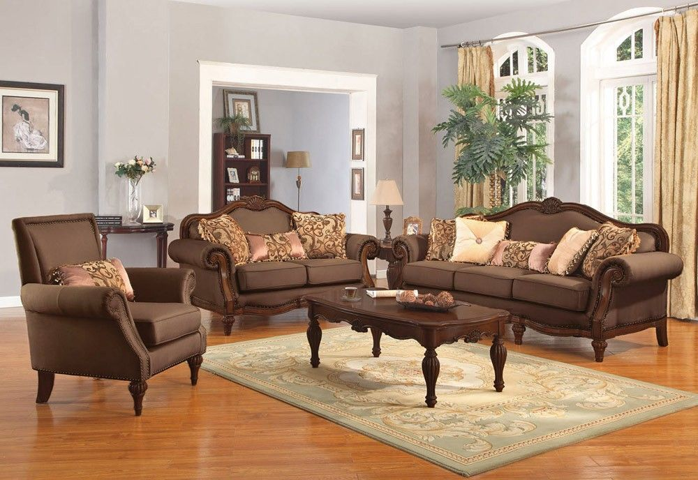 Cipriano Victorian Style Oversized Sofa Traditional Living Room Furniture Living Room Upholstered Chairs Living Room Sets Furniture
