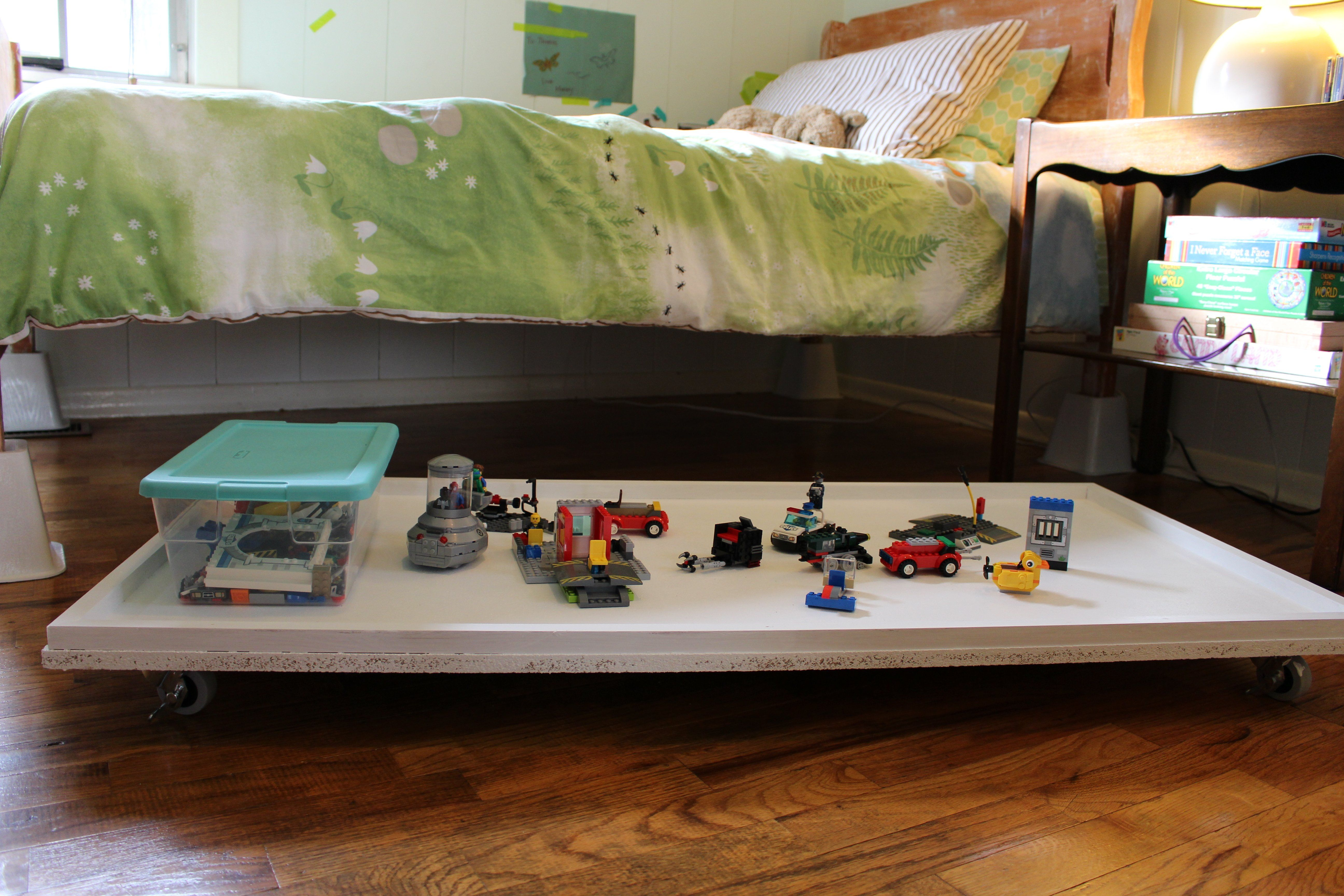 Diy Under Bed Lego Table Creating Your Space Lego Table Lego