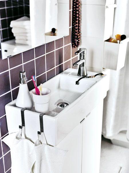 Mini, aber oho! Kleines Bad einrichten - badezimmer ideen für kleine bäder