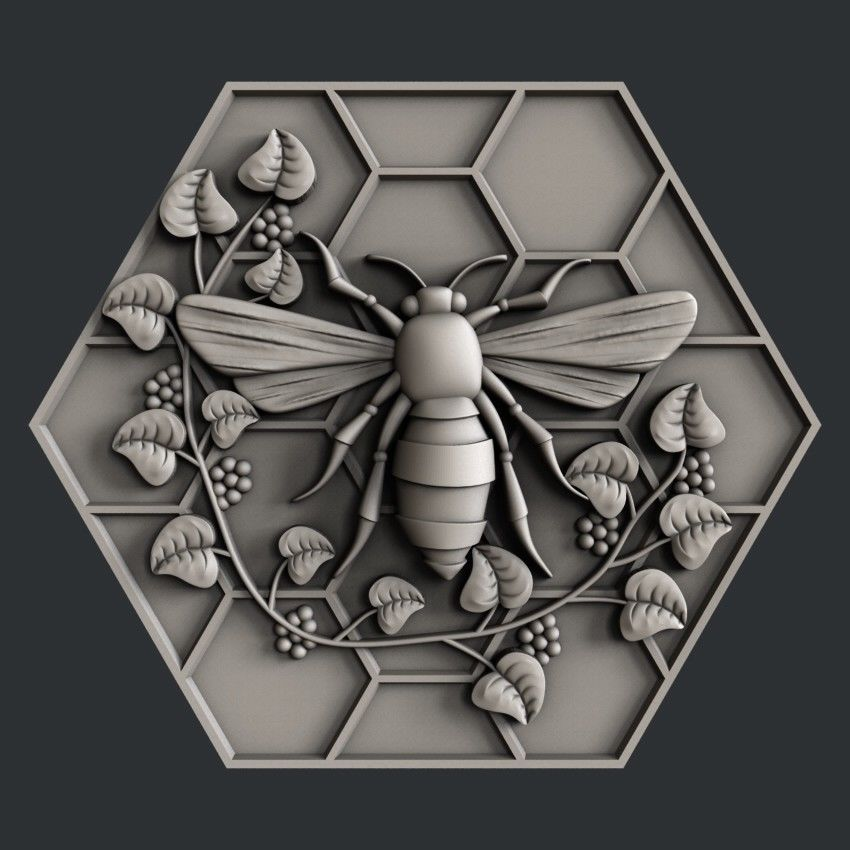 3d STL models for CNC, Artcam, Aspire, bee Глиняные