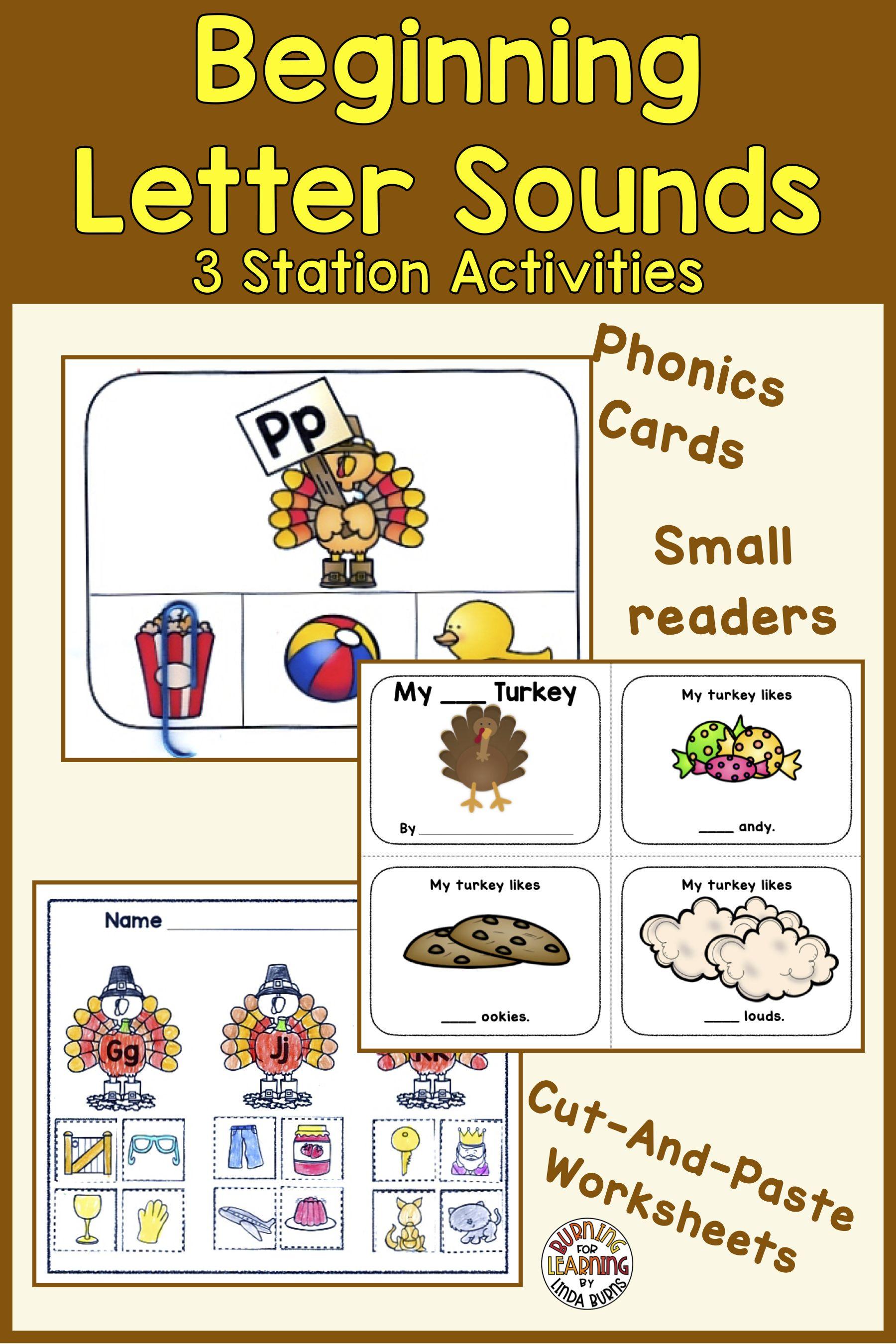 Beginning Letter Sounds Activities