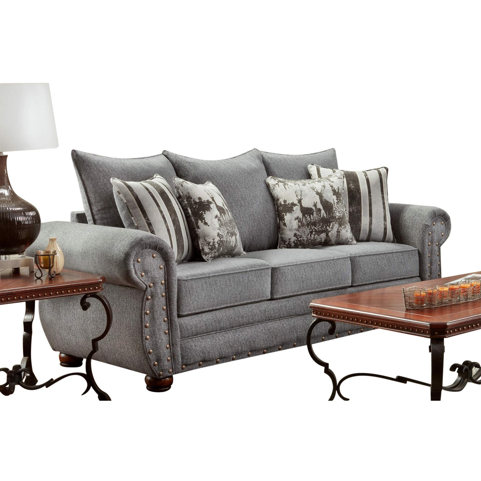 American Furniture Classics Model B3103 Erss Elk River Storm Sofa