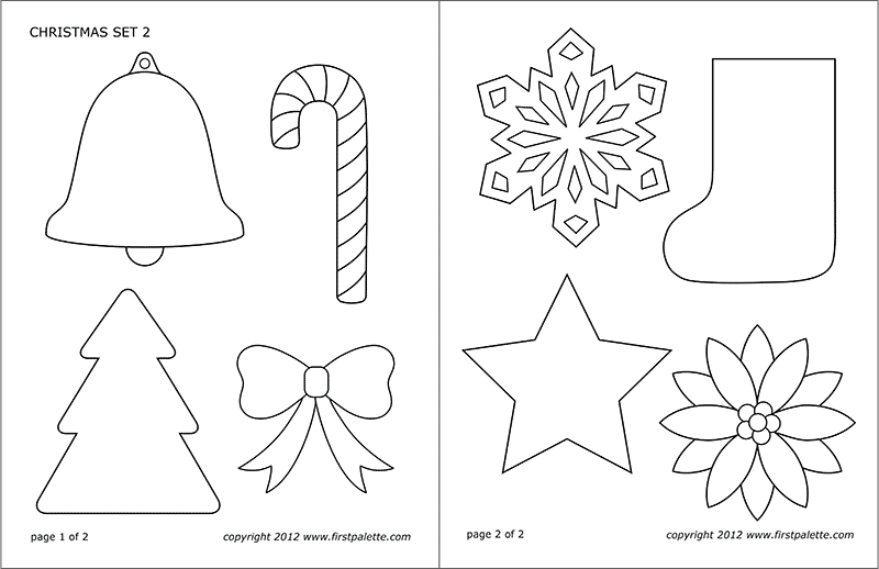 Christmas Sets Free Printable Templates Coloring Pages Firstpalette C Christmas Ornament Template Christmas Printable Templates Free Christmas Printables