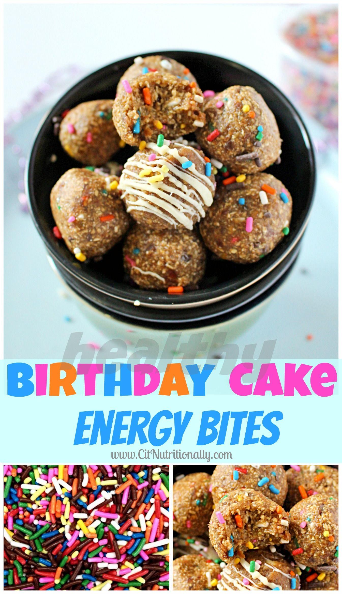 Healthy birthday cake energy bites recipe healthy