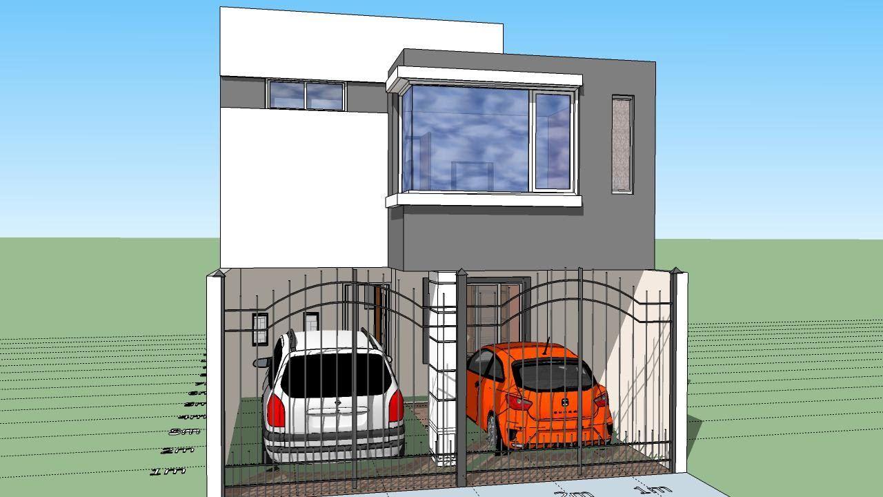 Casa de 6x15 mts de terreno planos planos de casas for Disenos de casas pequenas de una planta