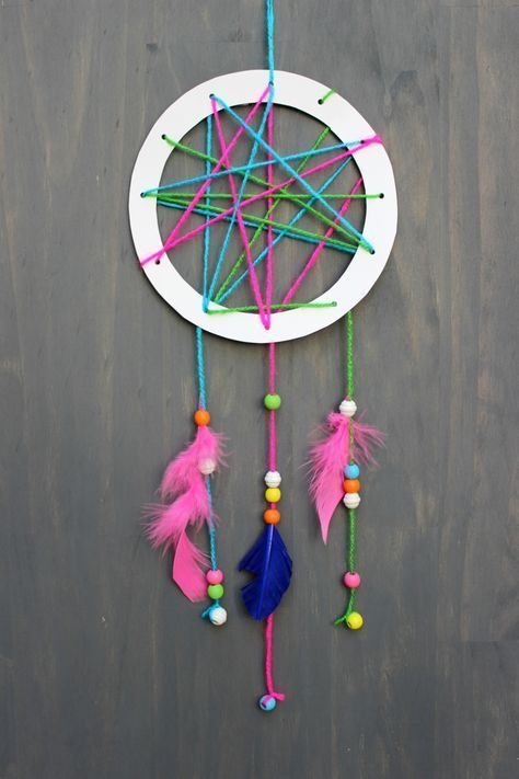 Basteln für Kinder einfache und lustige Kreationen » Wohnideen für Inspiration #traumfängerbasteln