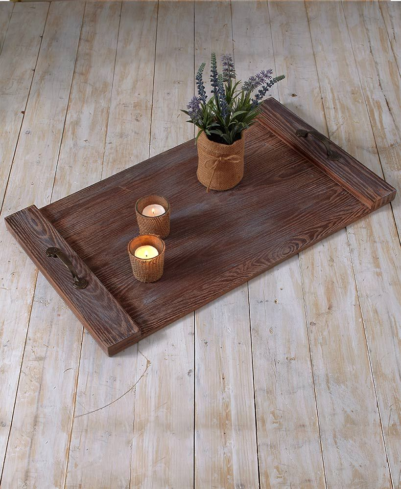 Rustic Pallet Trays | Pallet tray, Tray, Pallet
