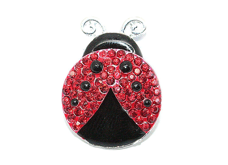 Rhinestone Ladybug (10 Pieces) JLIKA Flatback Button