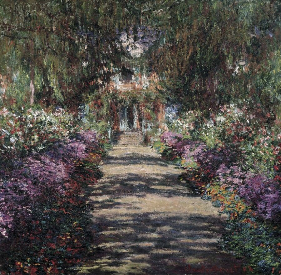 Claude path in garden in giverny 1902