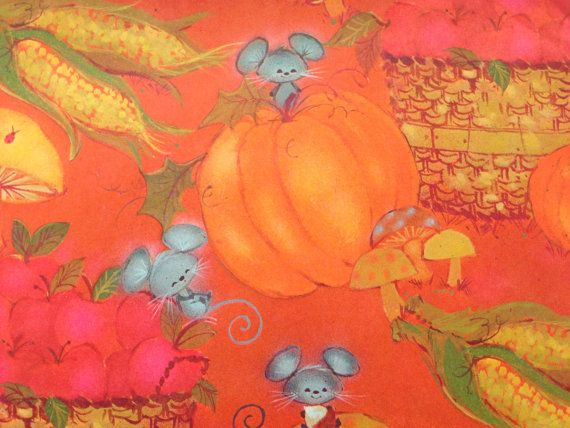 Vintage Gift Wrapping Paper  Thanksgiving by TheGOOSEandTheHOUND, $6.00