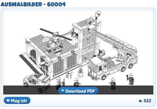 mein verrücktes nachfahrheft  malvorlagen lego city lego