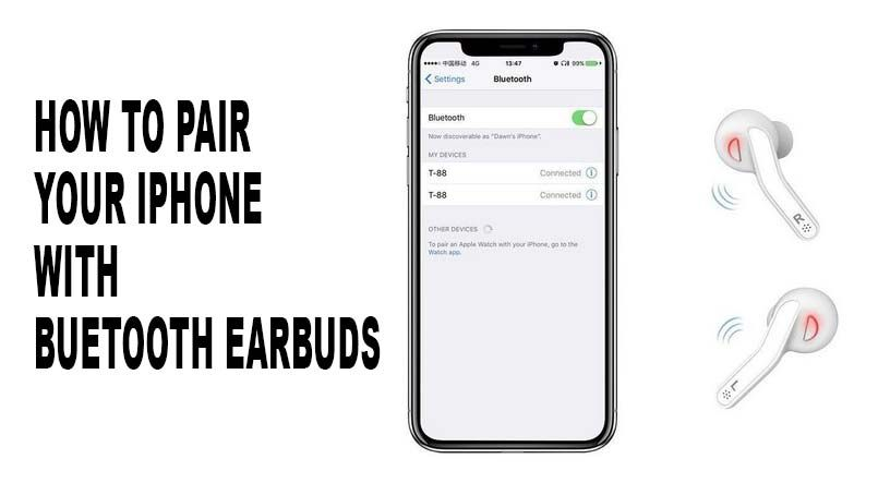 How to Pair iPhone XR with Bluetooth Earbuds Less in 3