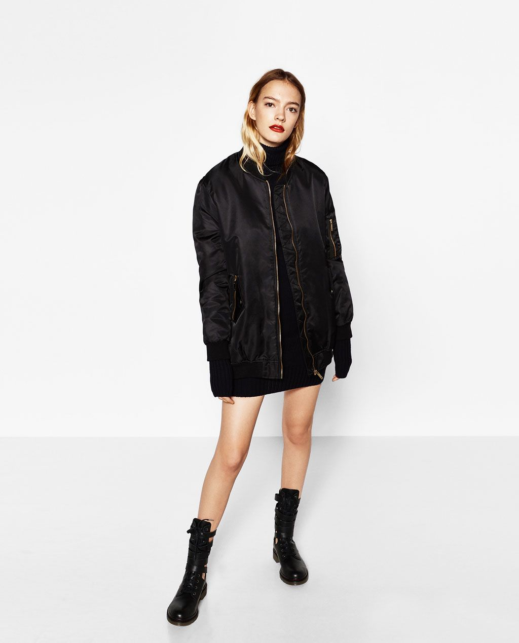 df6ce53e0a OVERSIZED BOMBER JACKET-View All-OUTERWEAR-WOMAN-SALE | ZARA ...