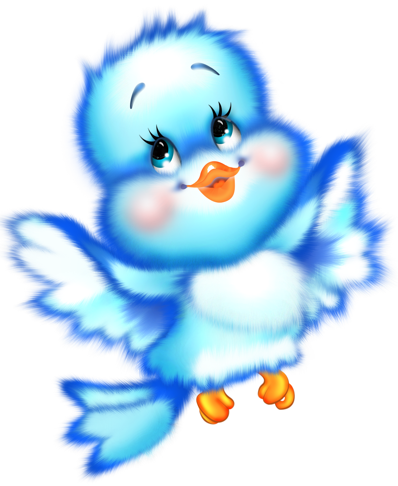 Cute Blue Bird Cartoon Free Clipart | ღ❣Kid's~Stuff❣ღ ...