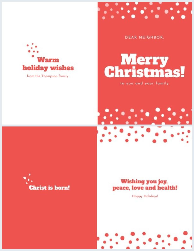 Red White Christmas Card Template Christmas Card Template White Christmas Card Christmas Cards