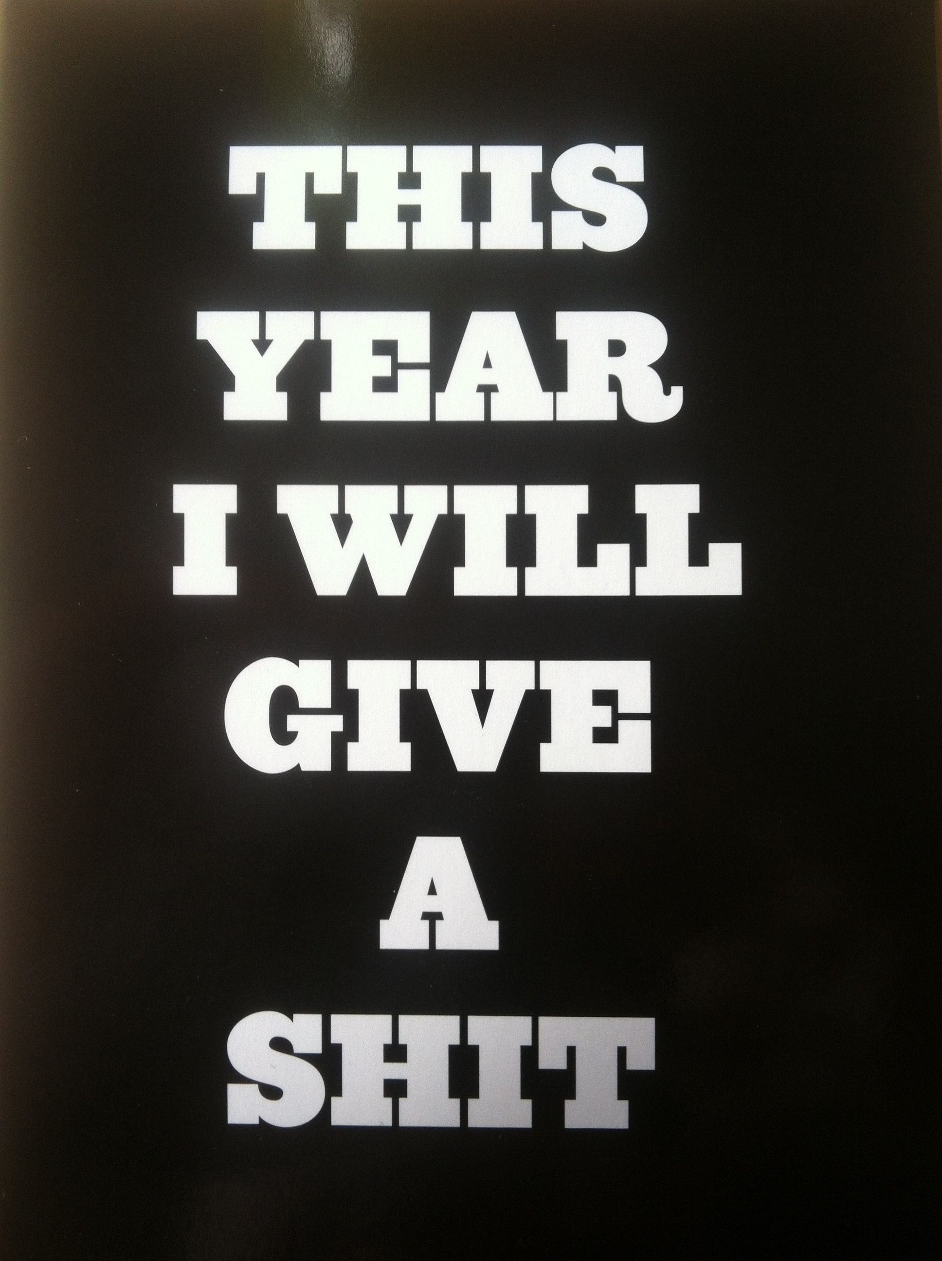 New Years resolution 2013