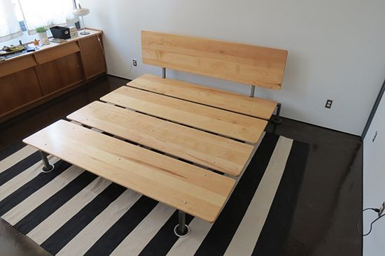 Metal And Wood Modern Platform Bed Diy Platform Bed Diy Bed
