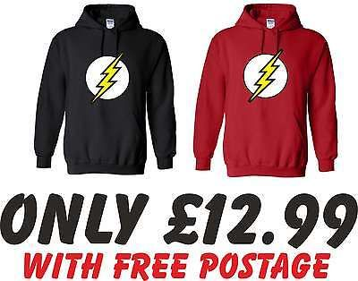 XXL The Flash Superhero Big Bang Theory Hoodie Geek Gift Sizes S