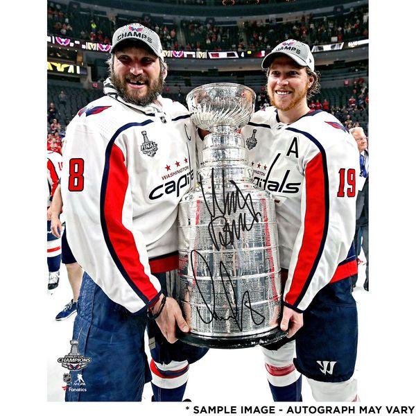 Alex Ovechkin   Nicklas Backstrom Washington Capitals Fanatics Authentic  2018 Stanley Cup Champions Autographed 16