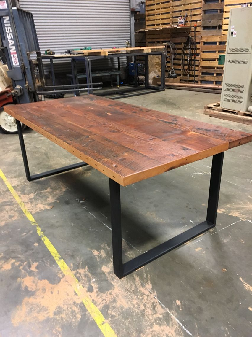 Reclaimed Douglas Fir Table Reclaimedwoodtables Recycled Wood Furniture Reclaimed Wood Restaurant Hand Hewn Beams