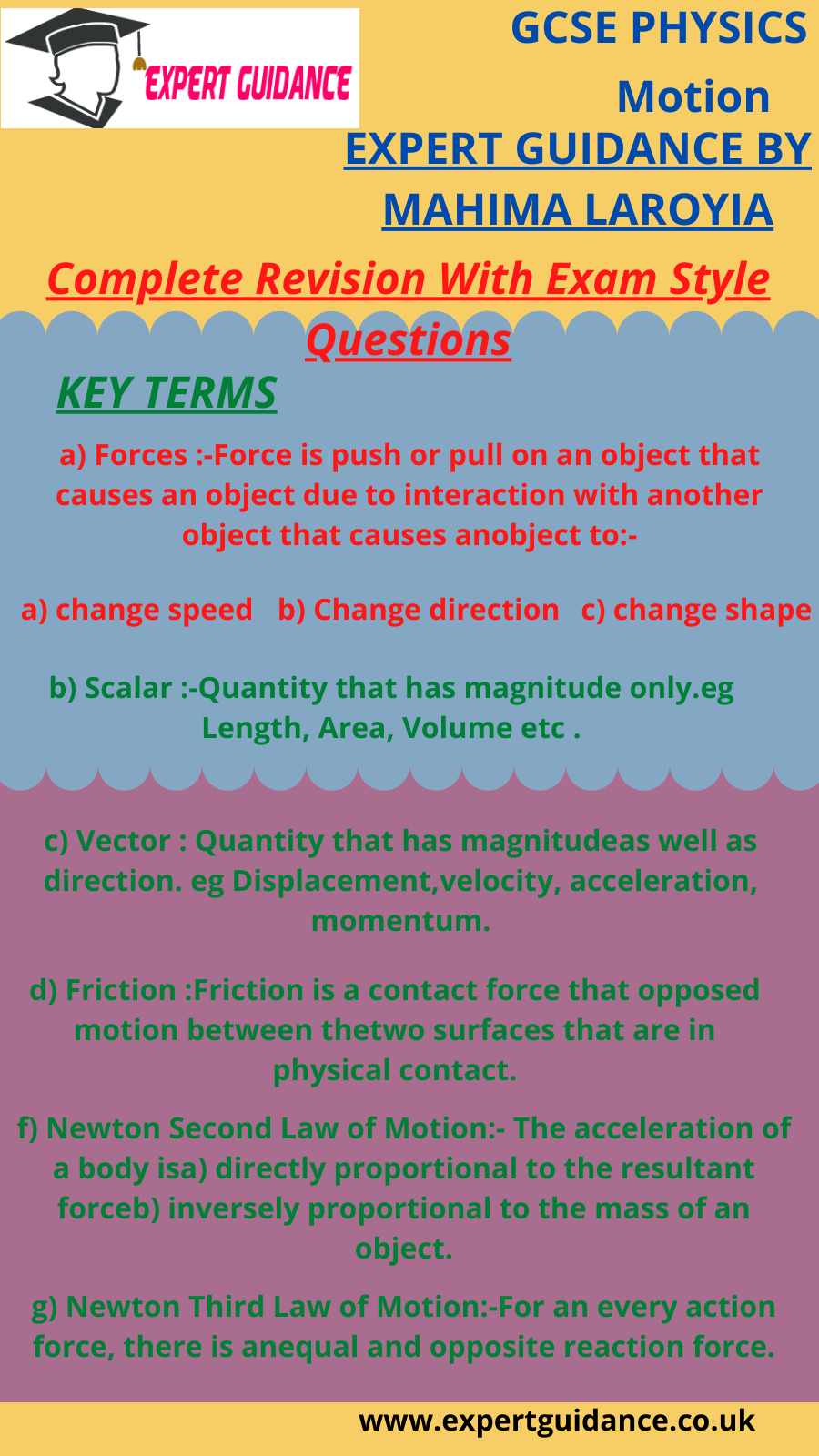 Motion Key Terms Complete Revision With Exam Style Questions Answer Notes In 2020 Gcse Physics Gcse Science Revision Gcse Science