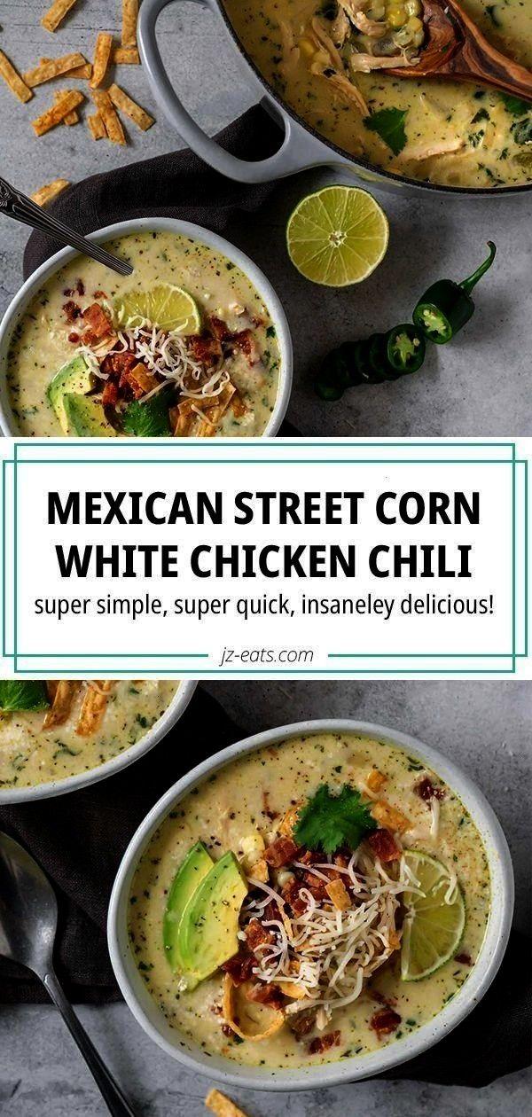 Corn White Chicken Chili -Mexican Street Corn White Chicken Chili -  This easy squash casserole is
