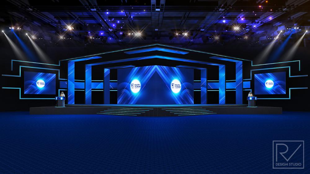 Stage On Behance Stage Design Stage Backdrop Design Concert Stage Design