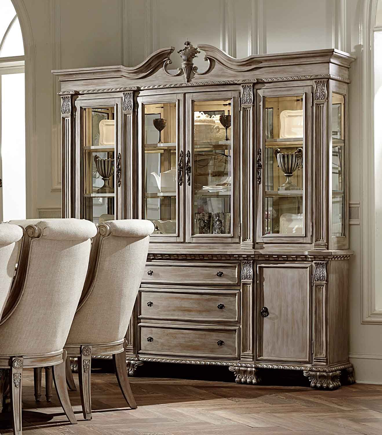 Homelegance Orleans Ii China Cabinet White Wash In 2020