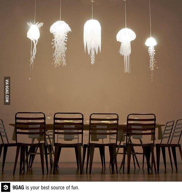 Jellyfish-inspired pendant lights. | Jellyfish, Pendant ...